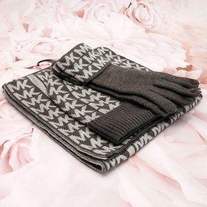Michael Kors 3 Piece Scarf Set W/Hat & Gloves